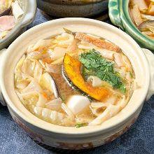 Okirikomi with miso soup