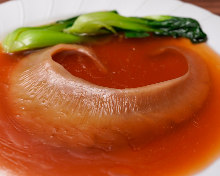 Simmered shark fin in soy sauce