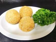 Sesame dumpling