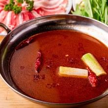 Mala sauce hotpot with kurobuta pork