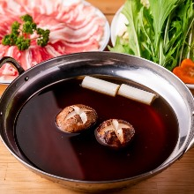 Soy sauce hotpot with kurobuta pork