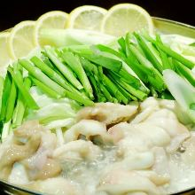 White broth hotpot with lemon and beef offal