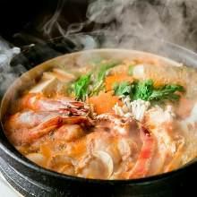Stone pot seafood jjigae