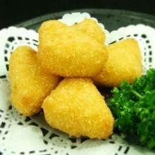 Deep-fried cheese