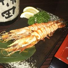 Salted and grilled prawn