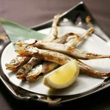 Grilled shishamo smelt