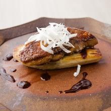Foie gras teppanyaki