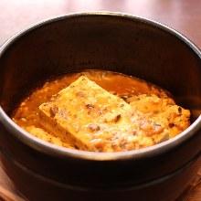 Stone grilled mapo tofu