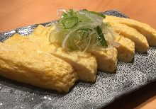 Softshell turtle omelet roll with broth