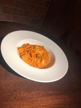 Pasta with tomato and mozzarella cheese