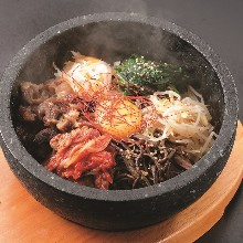 Stone grilled bibimbap