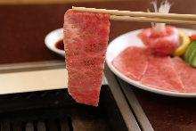 Seared beef loin