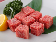 Wagyu beef diced steak