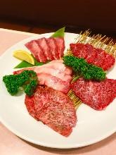 Assorted wagyu beef, 5 kinds