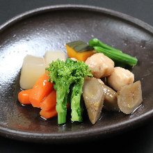 Simmered assorted vegetables