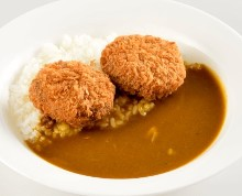 Minced meat cutlet curry