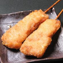 Fried pork skewer