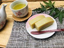 Sweet potato and azuki bean paste jelly