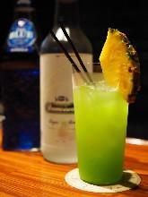 Fresh Pineapple Blue Hawaii