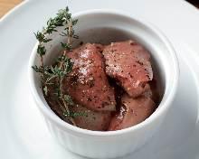 Chicken liver confit