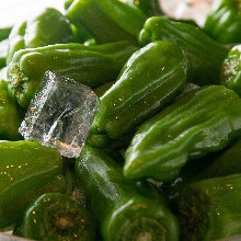 Chilled green peppers