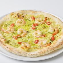 Basil sauce pizza