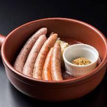 Assorted sausage