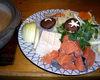 """""""Ishikari"""" salmon and vegetable hotpot"""