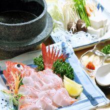 Kichiji rockfish shabu-shabu