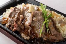 Beef steak pilaf