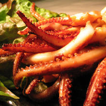 Ginger-fried squid arms
