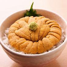 Sea urchin rice bowl
