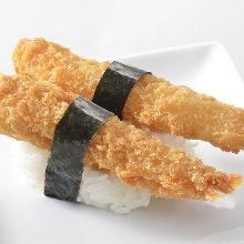 Deep-fried shrimp sushi rolls