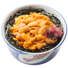 Sea urchin rice bowl
