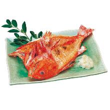 Charcoal grilled kichiji rockfish