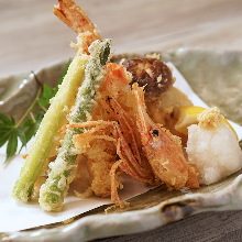 Assorted seafood tempura, 5 kinds