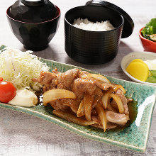 Ginger-fried pork set meal
