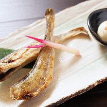 Seared dried saffron cod