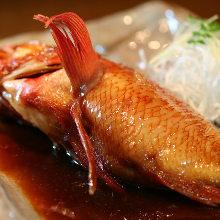 Stewed kichiji rockfish