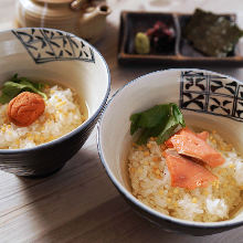 Ume chazuke (plum and rice with tea)