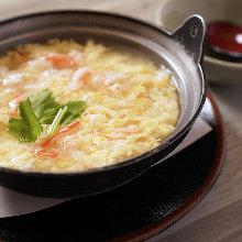 Crab rice soup