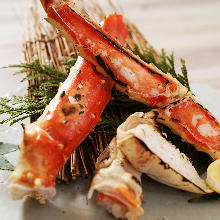 Seared red king crab
