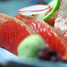 Salmon sashimi