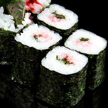 Plum perilla sushi rolls
