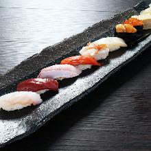 Assorted nigiri sushi, 8 kinds