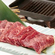 Seared beef skirt steak