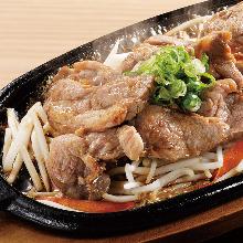 "Mongolian mutton barbecue (""Genghis Khan""), teppanyaki-style"