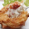Deep-fried crab in the shell filled with crab meat