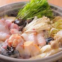 Monkfish hotpot