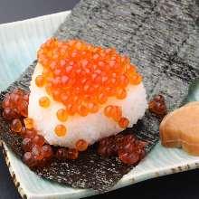 Salmon rice ball